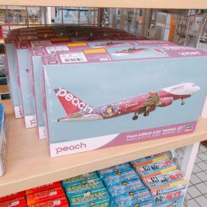 ピーチの飛行機の模型