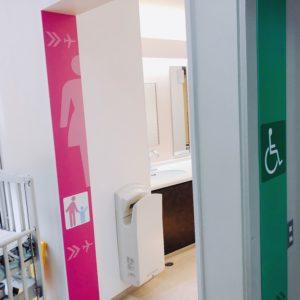 女性トイレ入口