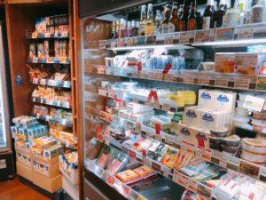 チーズの商品が並んでいる