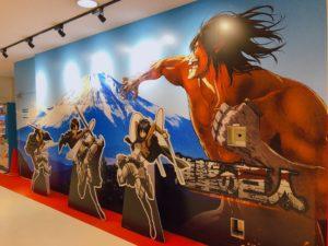 進撃の巨人の壁画