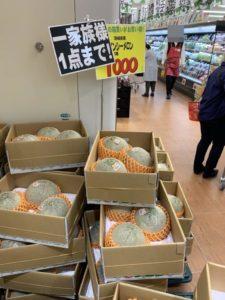 ロピア成田店メロン