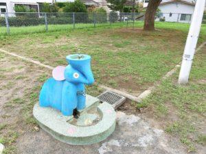 象さんの形をした水場