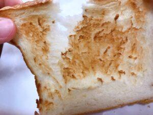 食パンをトーストした