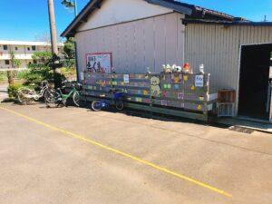 駄菓子屋の駐輪場